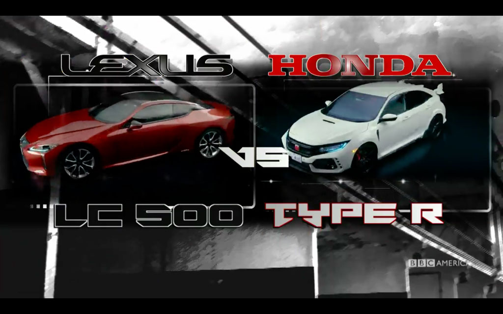 红白武士的对决, Lexus LC500 VS Honda Civic FK8 !