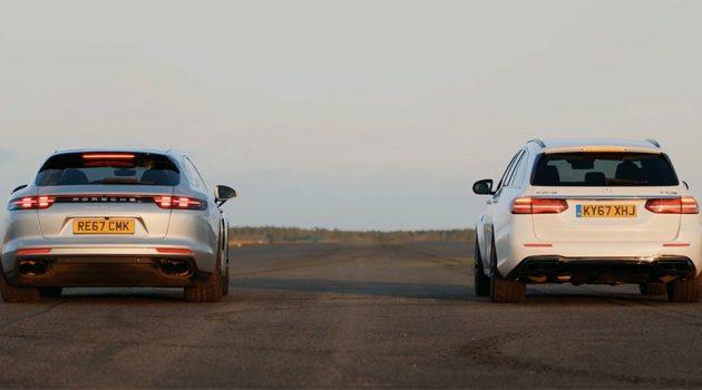 Mercedes-AMG E 63 S 直线大战 Porsche Panamera Turbo !