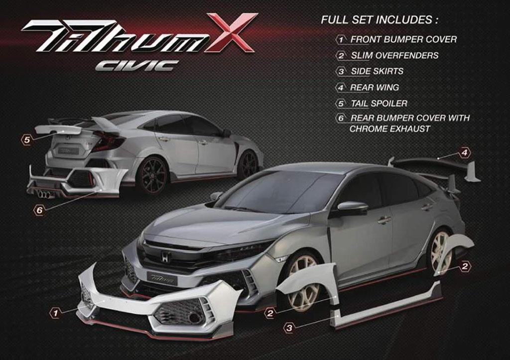 Honda Civic FC 空力套件,顺便变身 Type R !