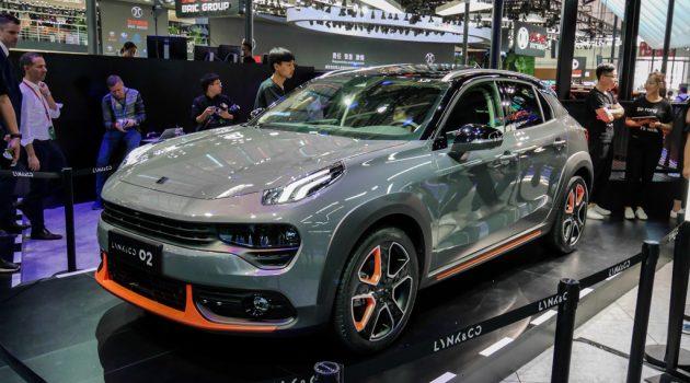北京车展: Lynk&Co 02 实车现身,主攻年轻人市场!