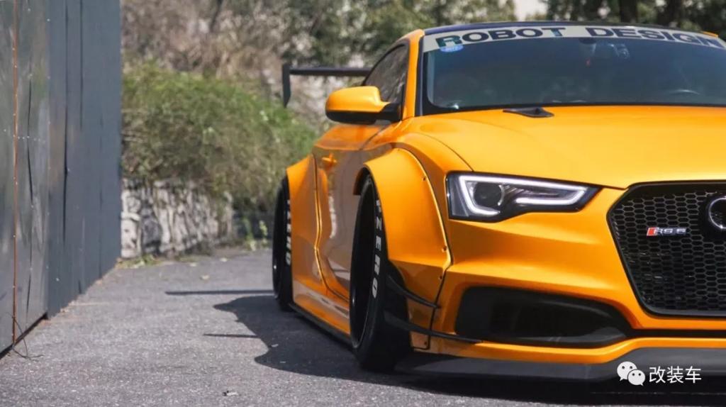 Audi 也能玩视觉系 ,又黄又宽的 Audi A5 大王!