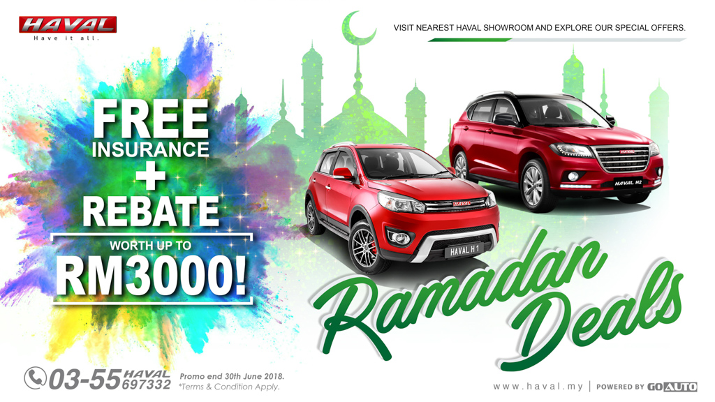 Haval 大促销!免费保险及高达 RM 3,000 的回扣优惠!