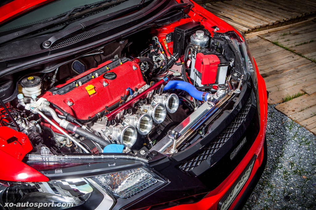 最强 NA Honda Jazz ,337 hp K24A 扩缸红头引擎上身!