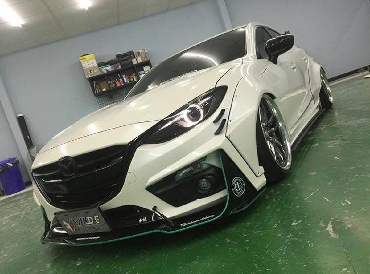 竞技风格, Mazda3 切割系爆龟宽体套件!