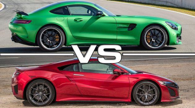 日德大战, AMG GTR VS Acura NSX  !