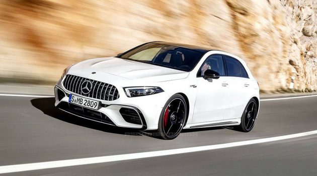 2019 Mercedes-AMG A45 低伪装现身!最快年末登场!