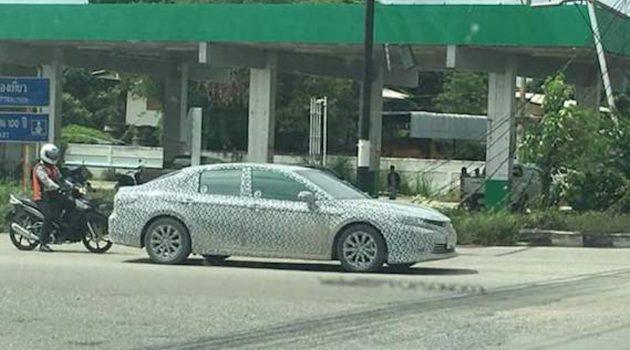终于要来了? 2018 Toyota Camry 现身泰国街道!