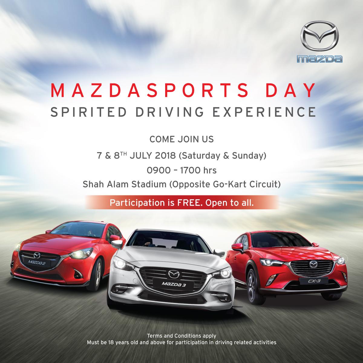 Mazda Malaysia 举办 MazdaSports Day 驾驶体验活动!