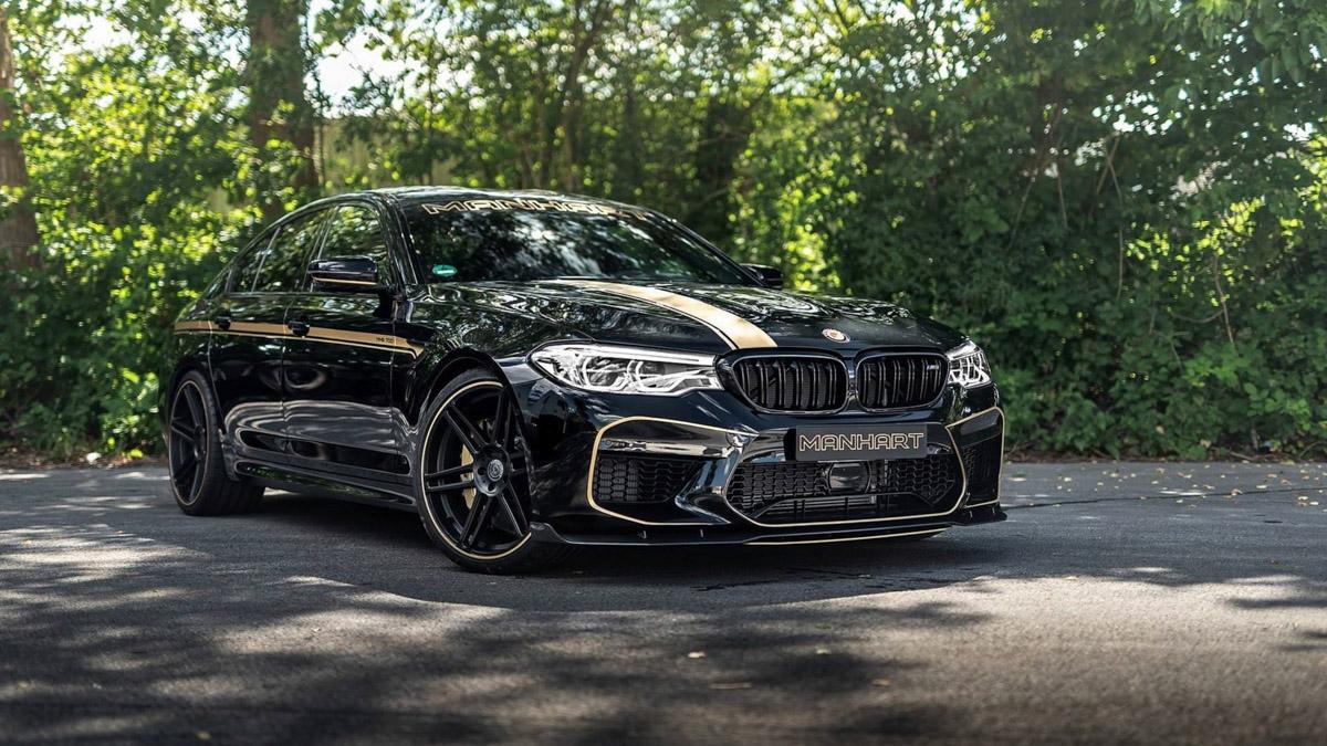 好好听的咆哮声!713 hp 的 BMW M5 Manhart !