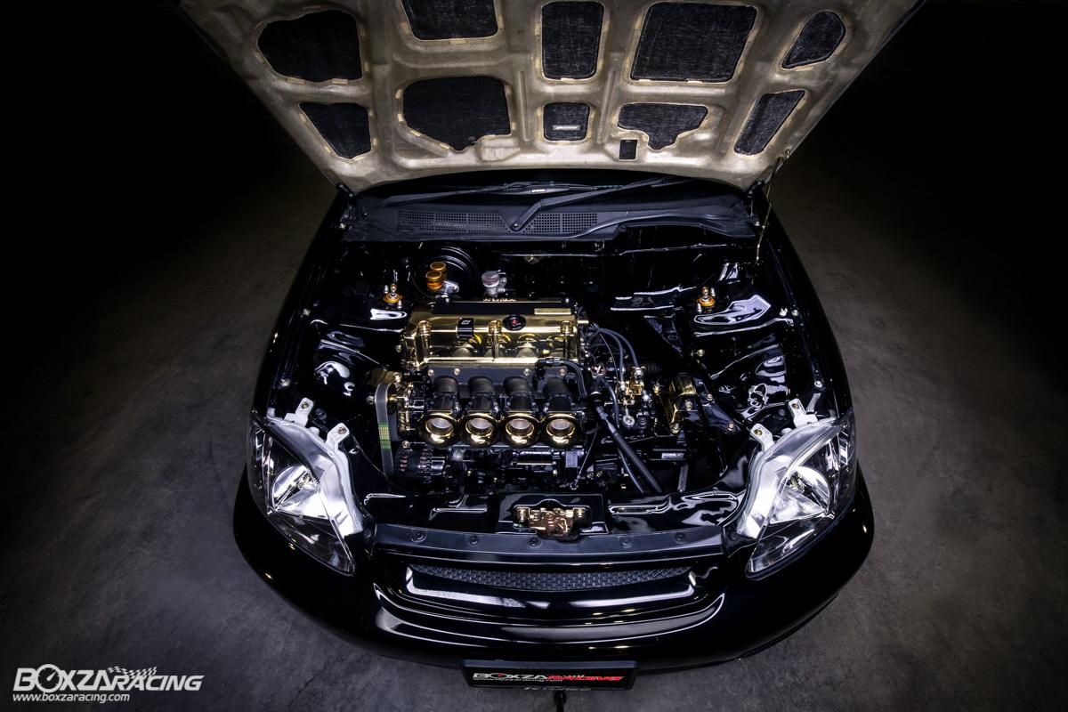镀金的 K24 !视觉系美系改法 Honda Civic Coupe !