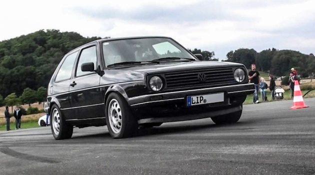 8秒完成 0-300 km/h!超狂的 1,216 hp Volkswagen Golf MK2 !