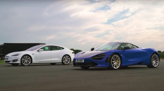 Tesla Model S P100D 大战 McLaren 720S ,谁胜谁负?