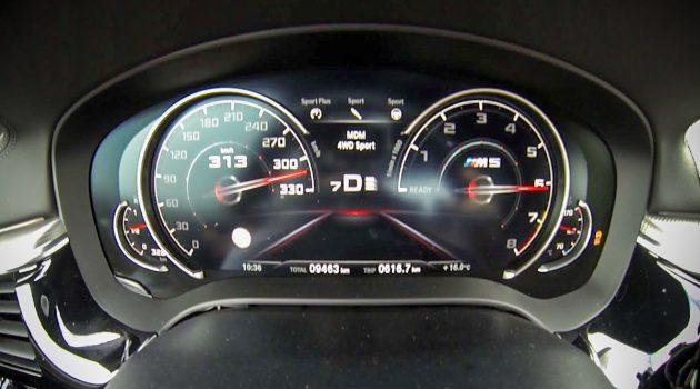 加速狂魔! BMW M5 不到一分钟就突破 300 km/h !