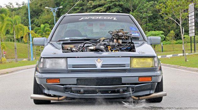 V8 引擎后轮驱动,史上最强大爆改 Proton Saga !