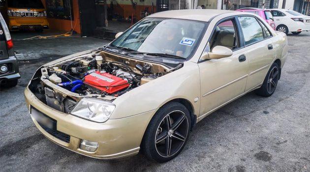 爆 TEC 比较爽? Proton Waja 移植 Honda B16A 引擎!