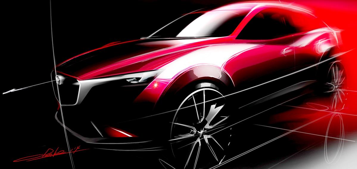 车身有所增长,新一代 Mazda CX-3 或2020年登场!