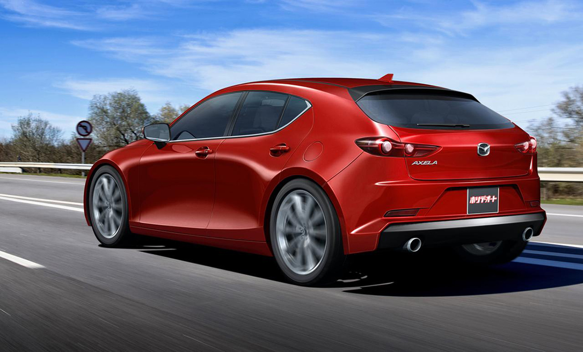 日媒爆出构想图!新一代 Mazda3 长这样?