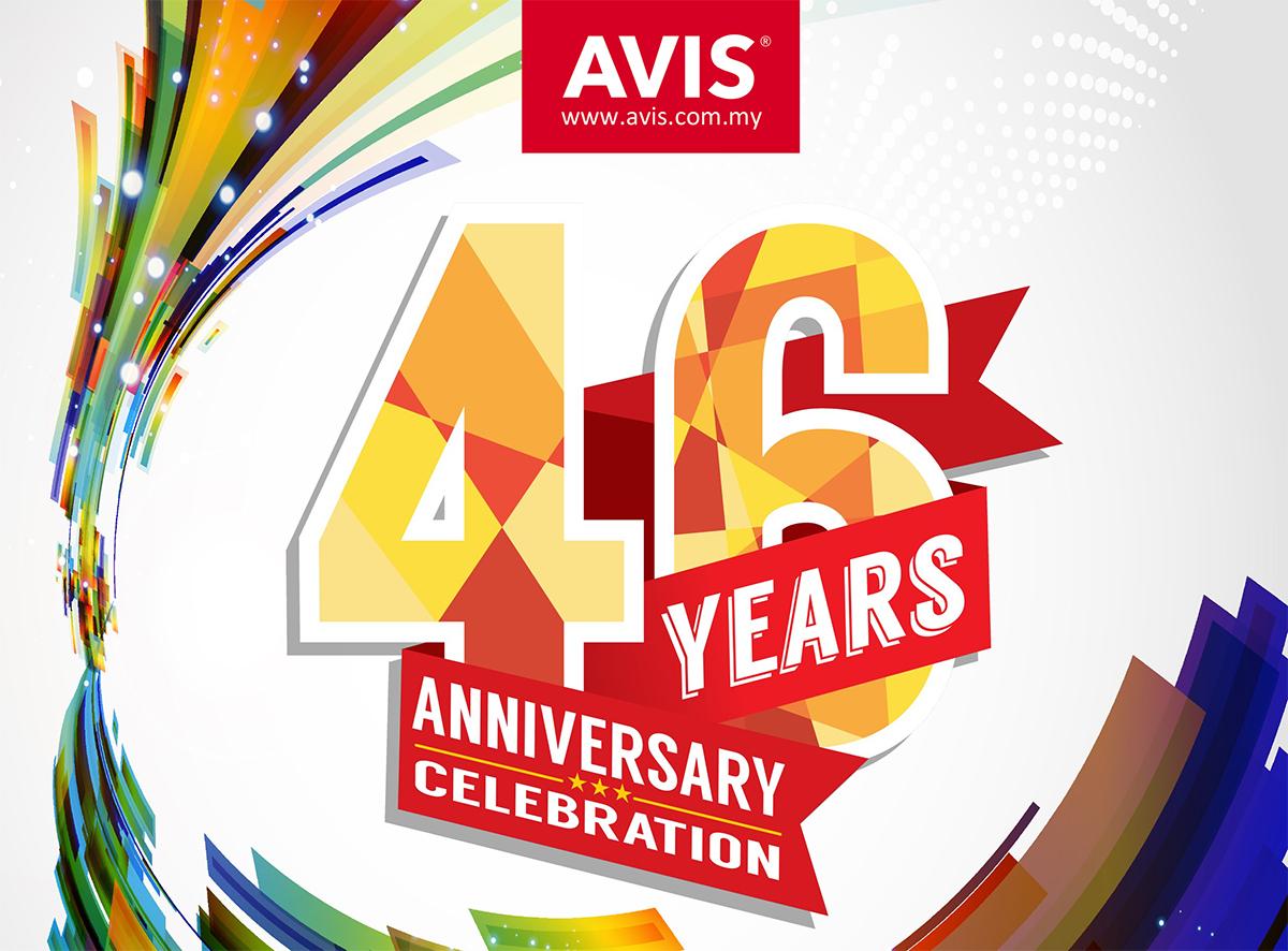 欢庆成立46周年, Avis Malaysia 提供 46% 折扣及周年大赛!