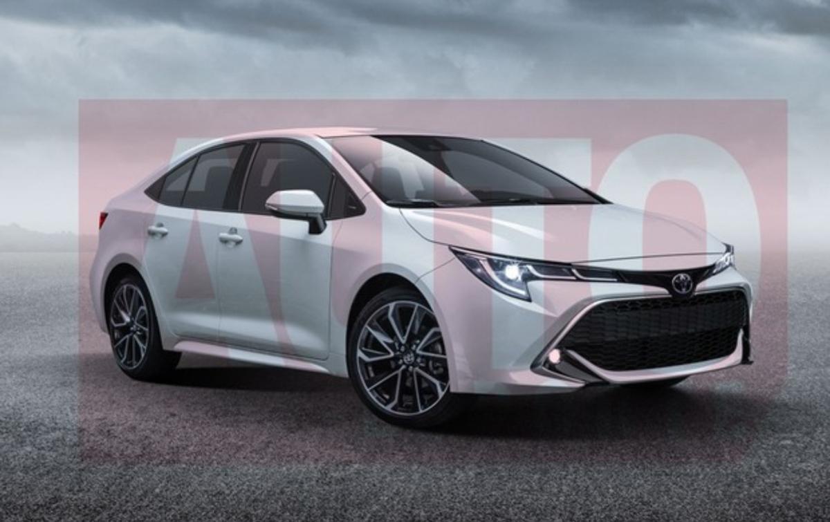 超真实构图, Toyota Corolla Sedan 2019 长这样?
