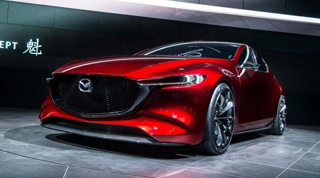 发表前夕实车现身! 2019 Mazda3 内装首次曝光!