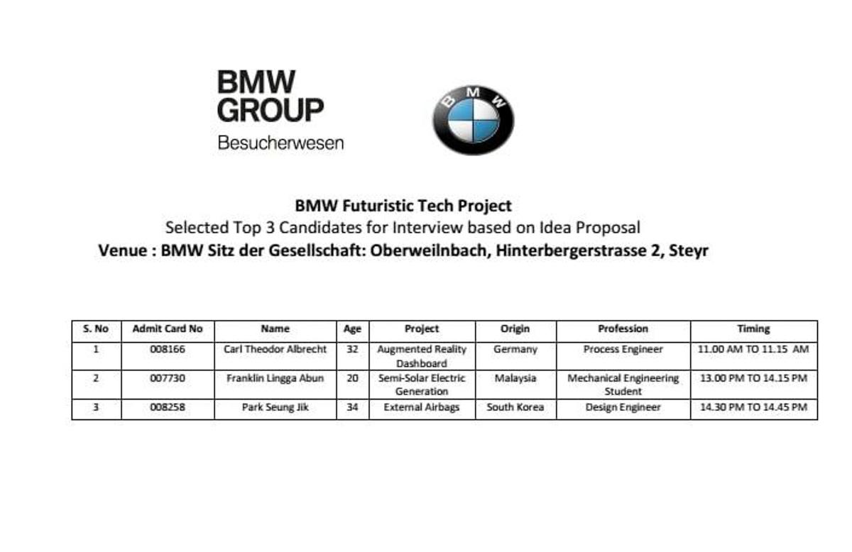 好样的!20岁砂拉越青年获德国 BMW 十年工作合约!