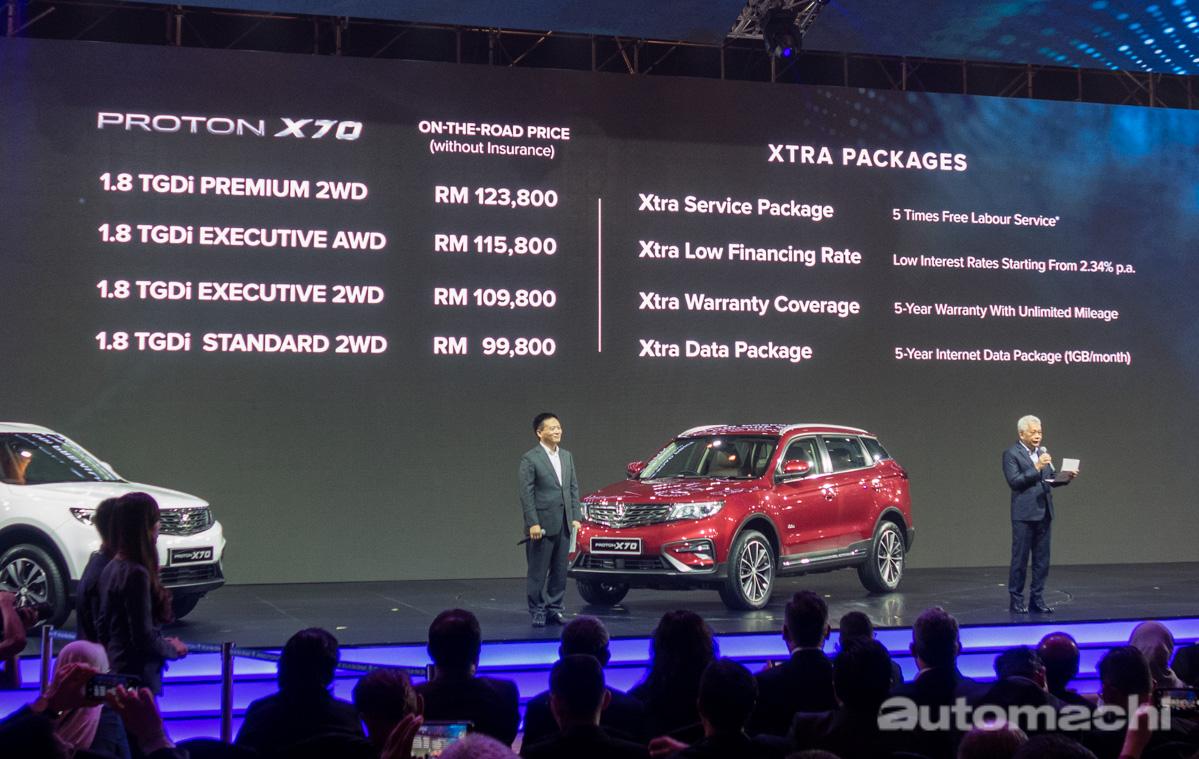 Proton X70 四大车型详细配备比一比!