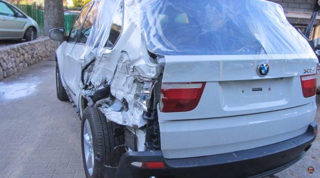 很疗愈!手工超美的俄罗斯技师完美修复 BMW X5 !