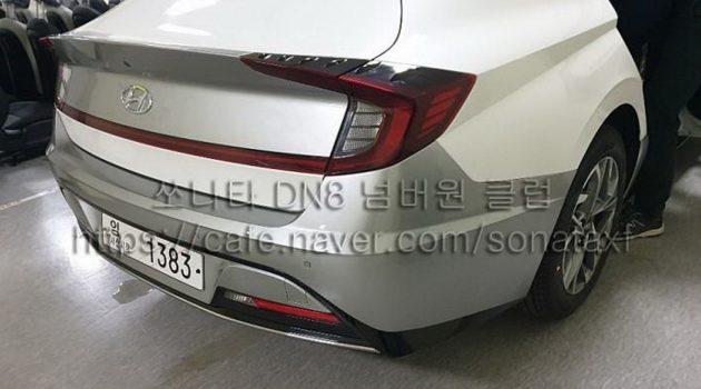 新一代 Hyundai Sonata 实车首次曝光,内外皆露!