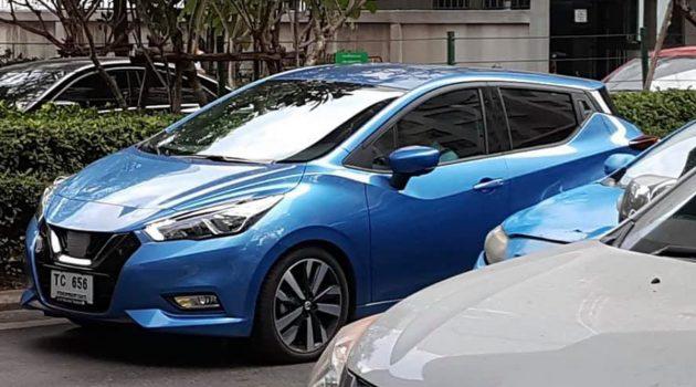 今年登场?新一代 Nissan March 现身泰国测试!