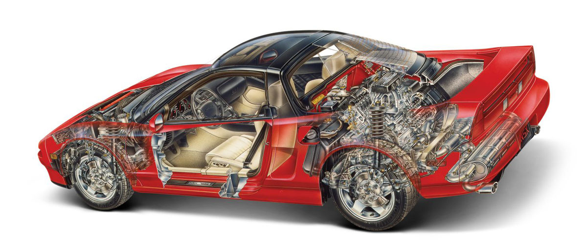 Honda NSX ,一群技术宅打造出来的旷世超跑!