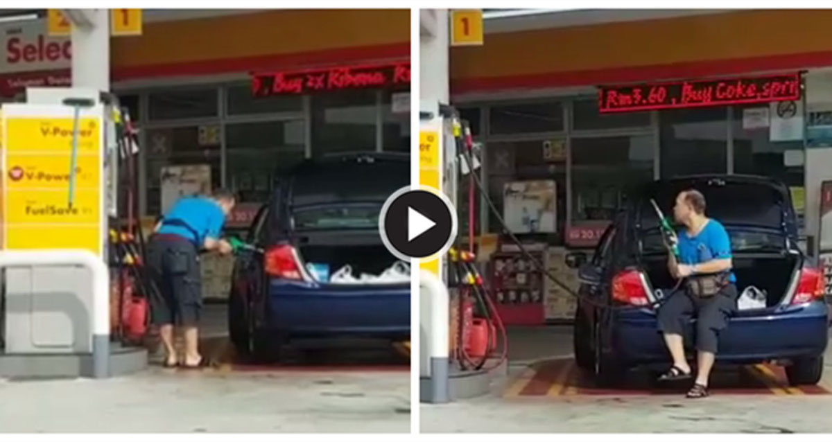 新加坡司机越堤打油还摇车,其实最多只能多添1%汽油!