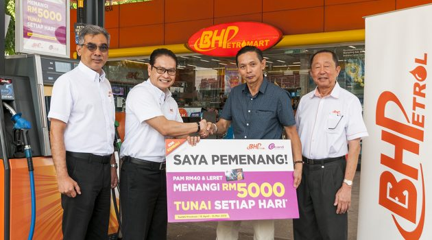 BHPetrol 将每天送出RM 5,000的现金!