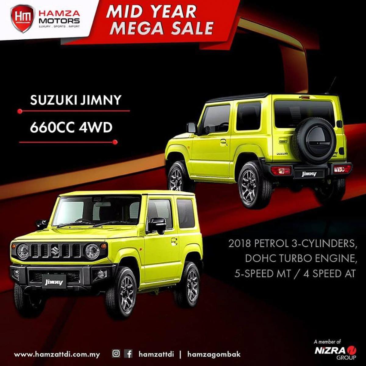 复新 2018 Suzuki Jimny 登陆我国,售价 RM 168,000 起跳!