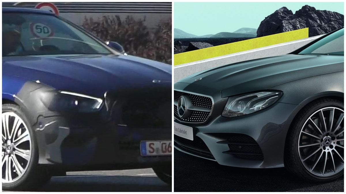 Mercedes-Benz E Class 小改款现身,换装全新的头灯组?