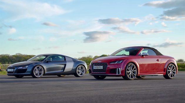 家族大比拼,Audi TTS 直线挑战大哥 Audi R8