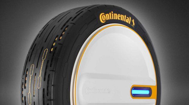 Continental 最新黑科技,轮胎可自行调整胎压