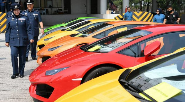 为了逃避814万令吉的税务,多辆 Lamborghini 超跑以及豪华房车被充公