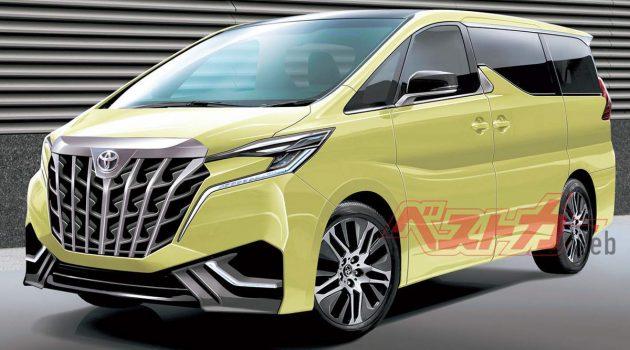 搭载2.4L涡轮引擎,新一代 Toyota Alphard 2021年登场