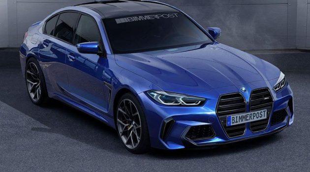 BMW G80 M3 实车曝光,最大马力超500 Hp
