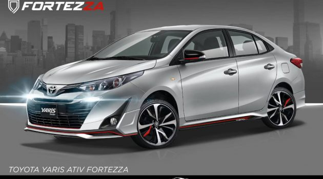 Toyota Vios Fortezza 空力套件,设计更为运动化