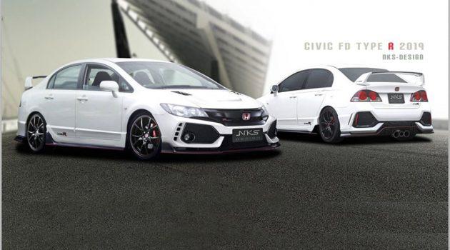 Honda Civic FD2 NKS 空力套件登场,采用 Fk8 的设计风格