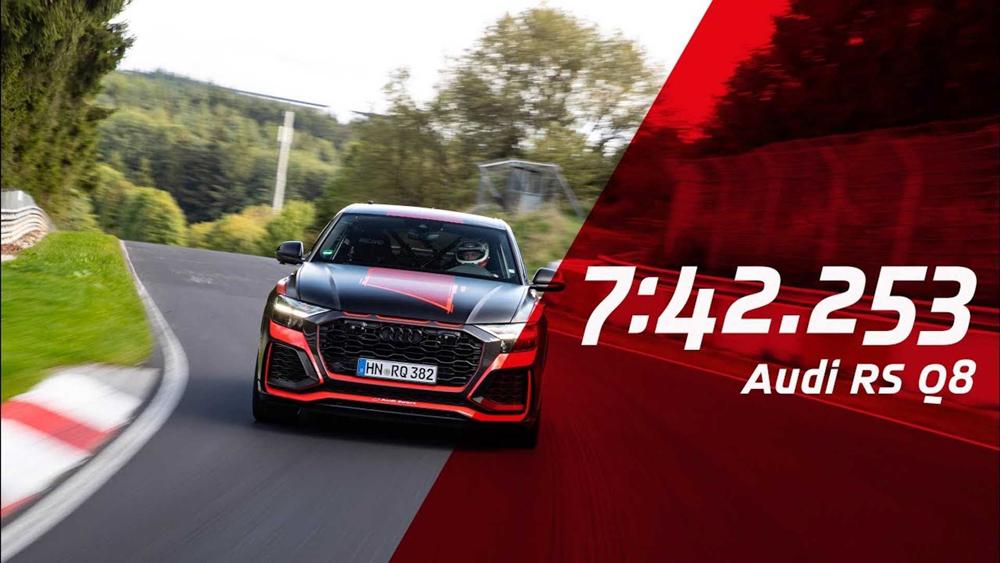 Audi RS Q8 打破纽柏林 SUV 纪录,成为纽柏林最速 SUV
