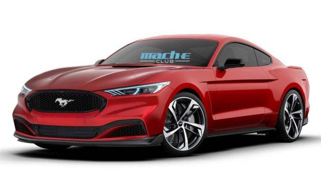 纯电 Ford Mustang 假想图曝光,采用最新家族设计