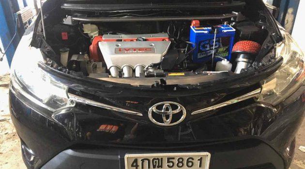 Toyota Vios 异种移植 Honda K20A 引擎