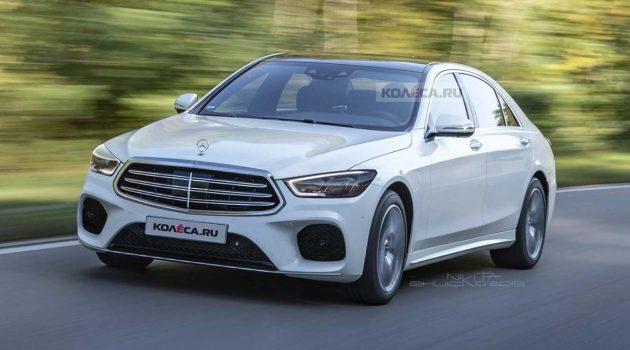 新一代 Mercedes-Benz S Class 无伪装曝光,外观霸气十足