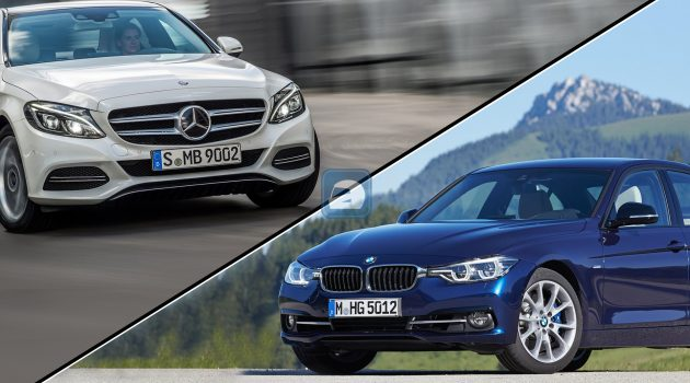 BMW F30 320i VS Mercedes-Benz W205 ,二手价格对对碰