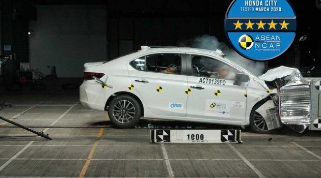 2020 Honda City Asean NCAP 撞击测试成绩出炉,获得5星好评