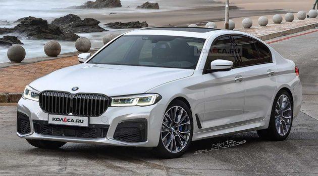 BMW G30 5 Series 小改款现身,外观更大气