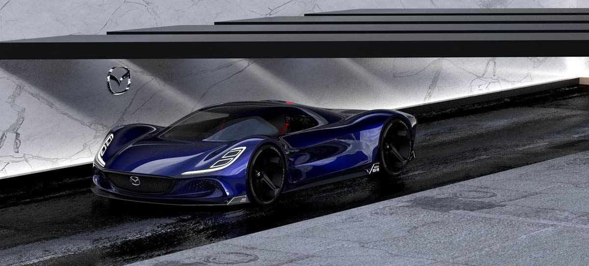 Mazda RX-10 Vision Longtail 大量资讯曝光,搭载转子引擎,马力1030Hp!