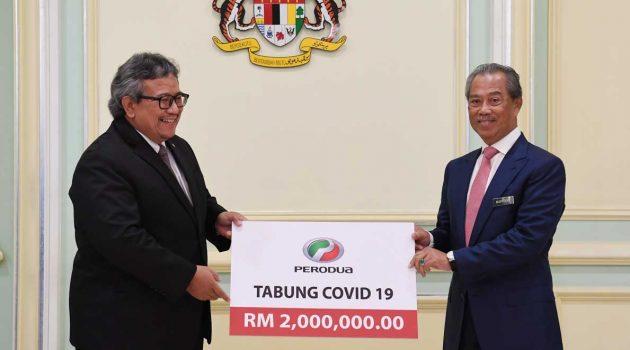 Perodua 在疫情期间献爱,捐赠200万令吉以及大量医疗用品
